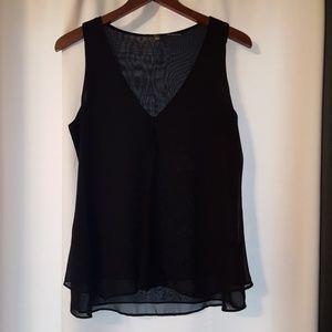 Tops - Black sheer blouse
